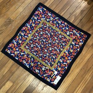 Like NEW! Floral Square Silk Scarf (Ann Taylor)